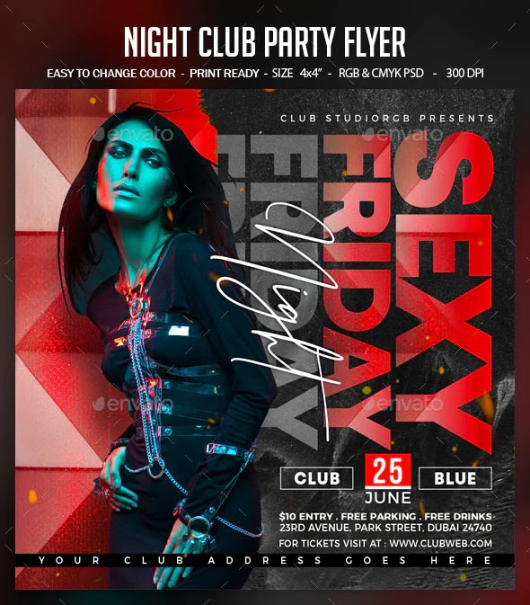 Night Club Party Flyer 28450646