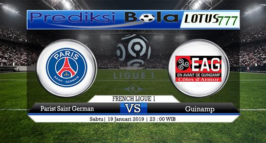 Prediksi PSG vs Guingamp 19 Januari 2019