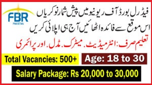 FBR Jobs July 2019 Latest Advertisement Federal Board of