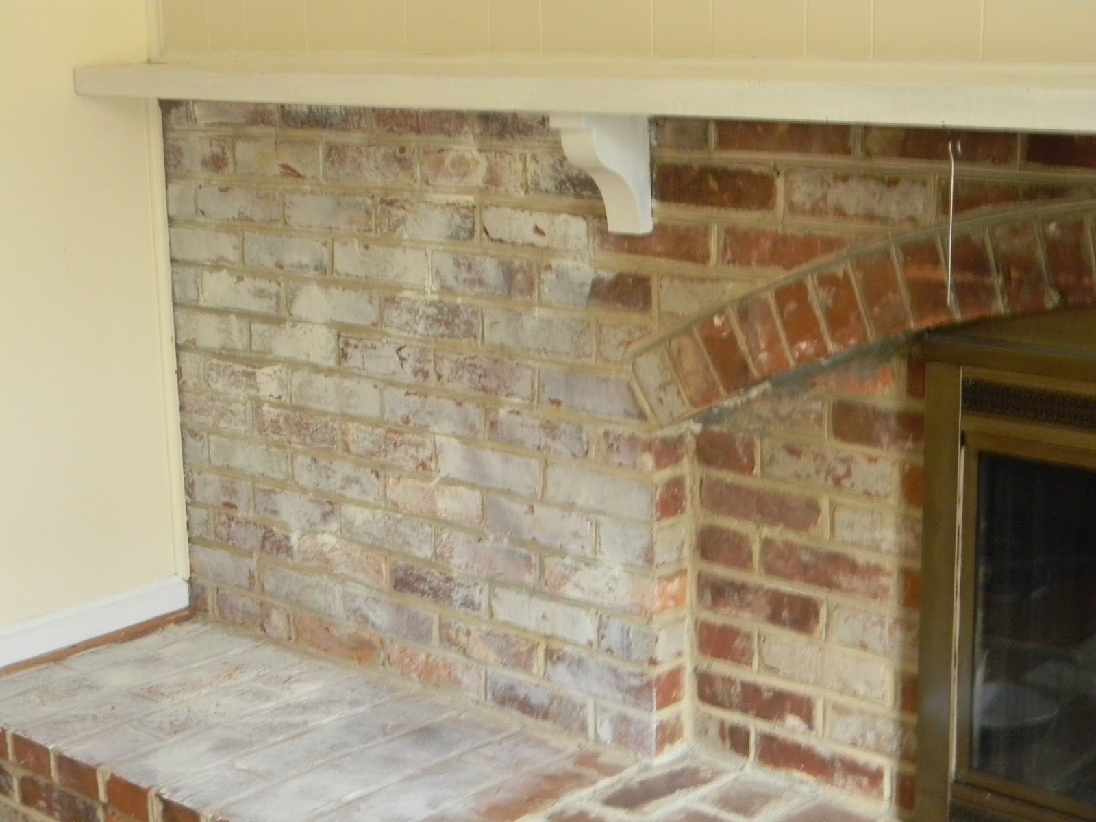 Whitewashed brick the painted drawer - How to whitewash brick house exterior ...