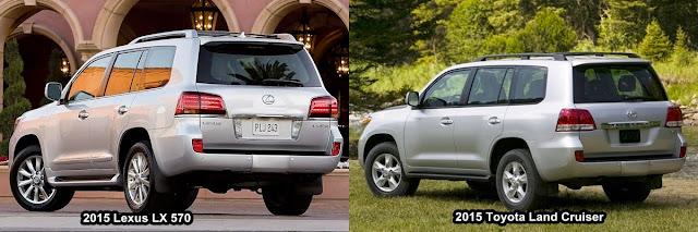 So sánh Toyota Land Cruiser và Lexus LX570 : Sức hấp dẫn từ thương hiệu
