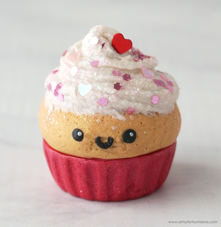 Polymer Clay Valentine Cupcake Face