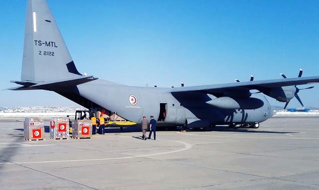 نقل مساعدات إتّحاد الشغل إلى لبنان على متن طائرة عسكرية