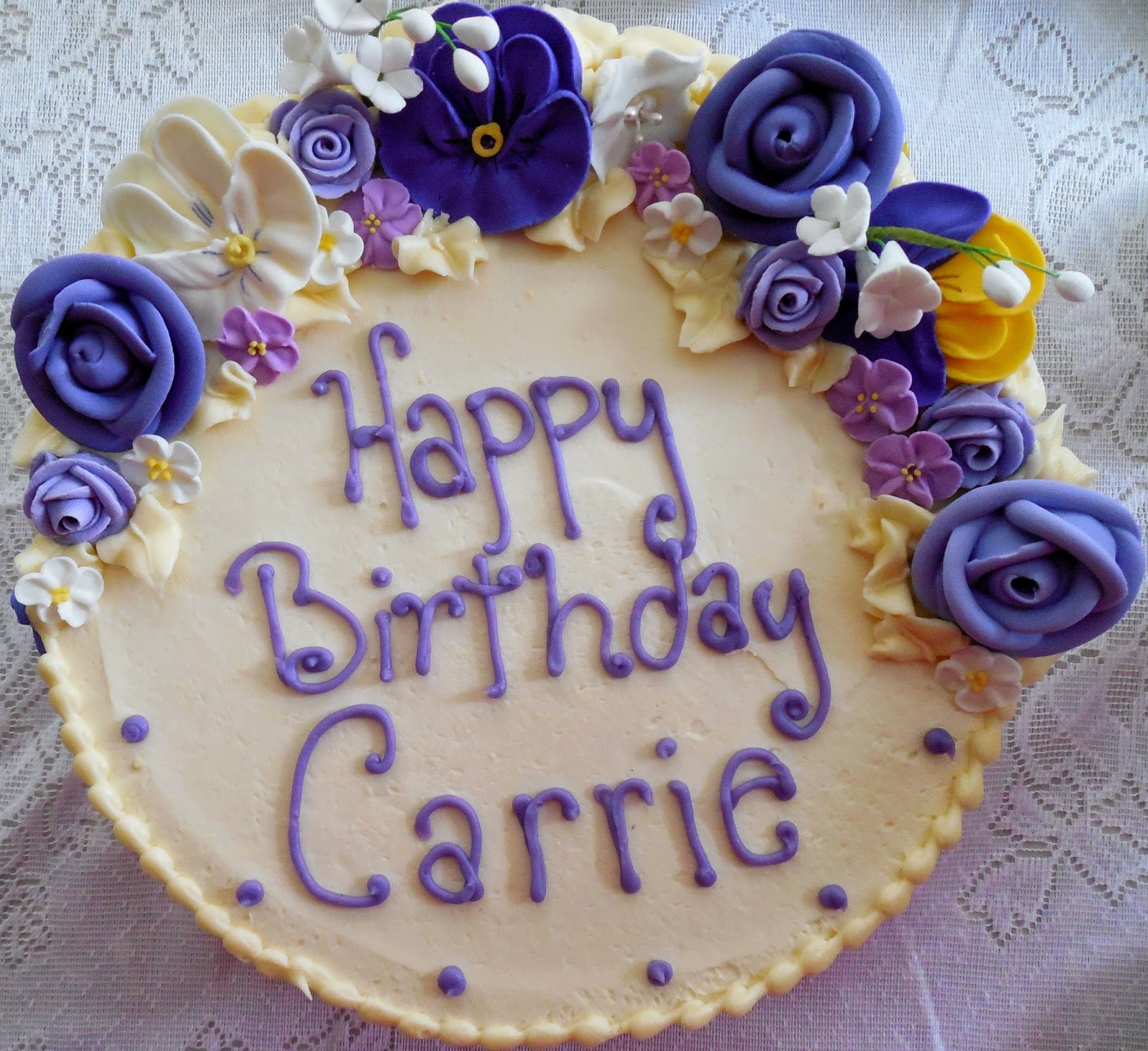 Carrie Birthday Cake