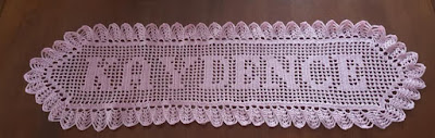 Custom Made-To-Order Name Doily in Pink - Handmade Crochet By Brenda Burgess on Etsy