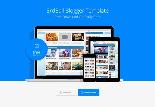 3rdball Responsive Video Blogger Template