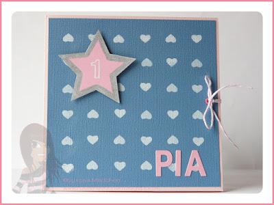 Stampin' Up! rosa Mädchen Kulmbach: Geburtstagskarte mit ABC-123 Outline Alphabet & Numbers, Beeindruckende Buchstaben und Stern