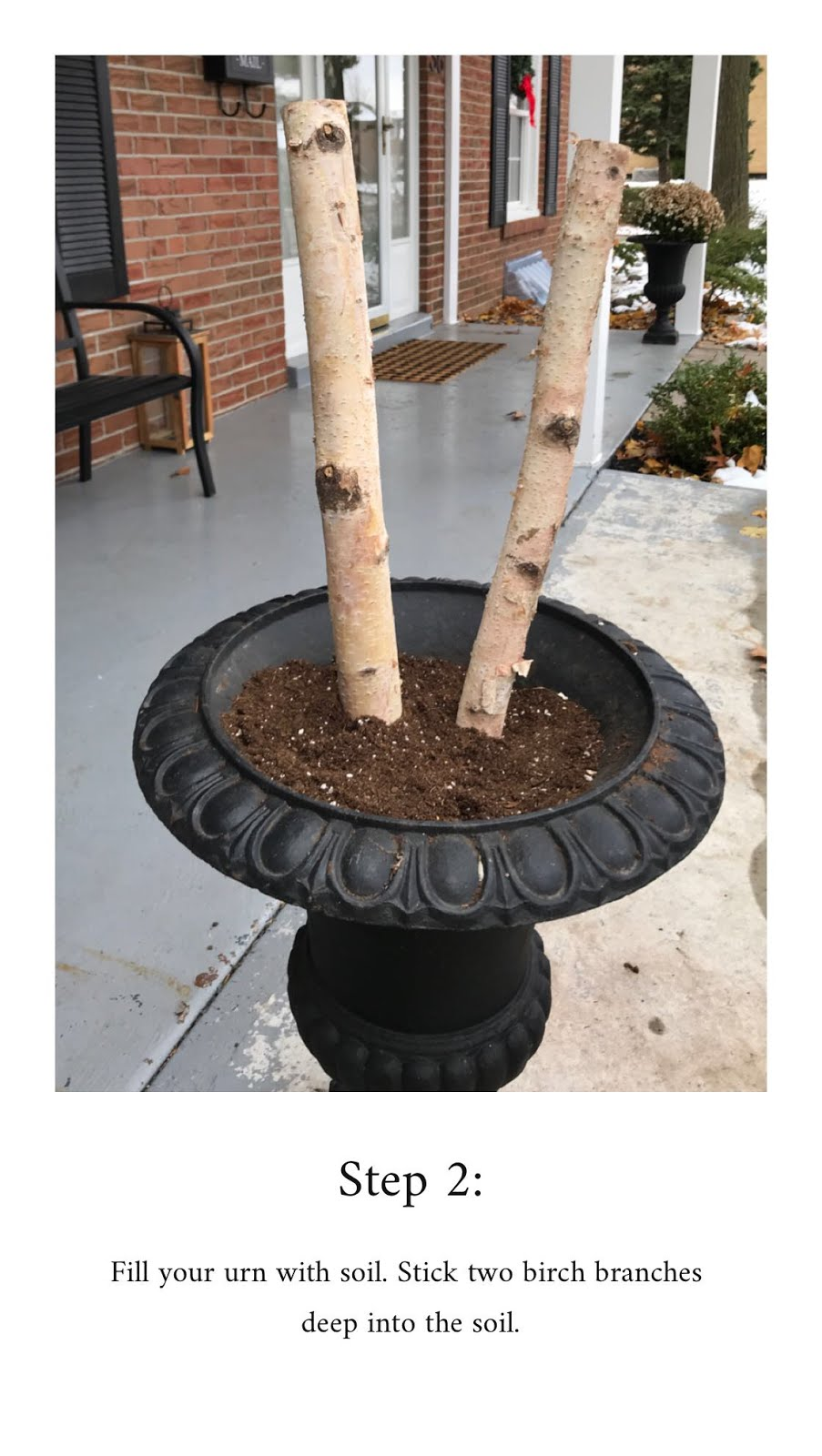 DIY Christmas urn, Christmas urn filler, outdoor christmas urns