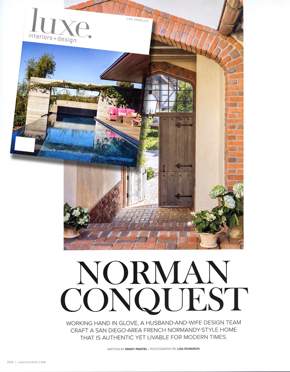 Exquisite Surfaces Medicis Rustic And La Terre Tiles Featured In Norman Conquest The May June Issue Of Luxe Interiors Design Los Angeles