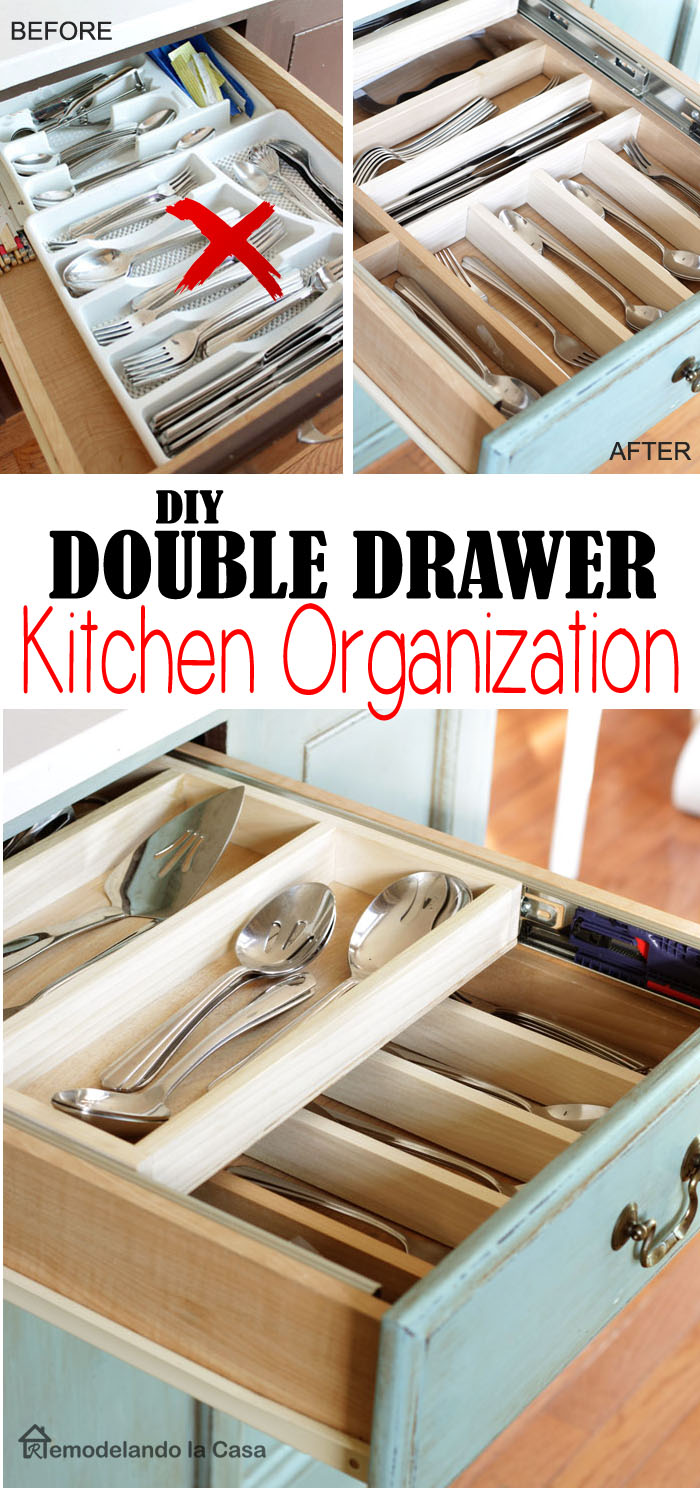 how to turn a simple drawer into a double layer one.