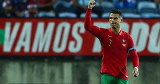 سجل كريستيانو رونالدو هدفين للبرتغال ضد لوكسمبورج في 5 دقائق