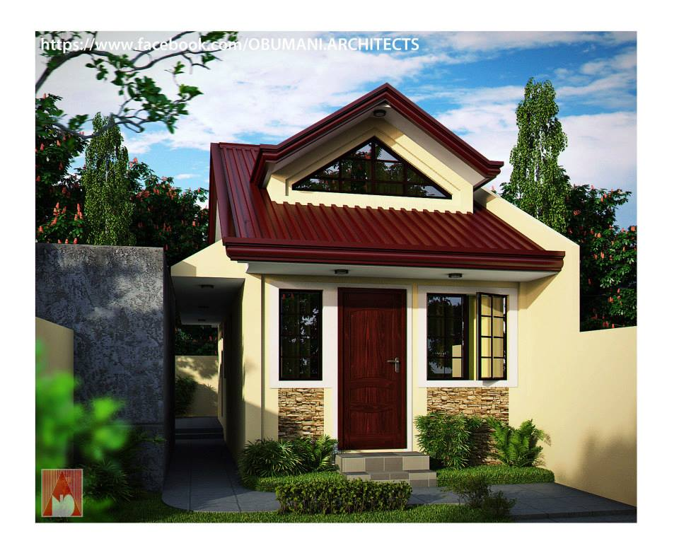 Beautiful small houses with lots of green trees plants for Small house design