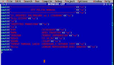 cara penggunaan dan pengoperasian program turbo c++