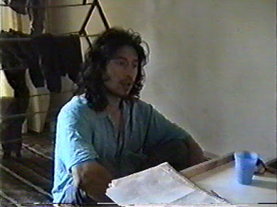 Ahgamen Keyboa (long hair, without beard) photo image from Vermont in the summer of 1997, debate with Steve Moyers