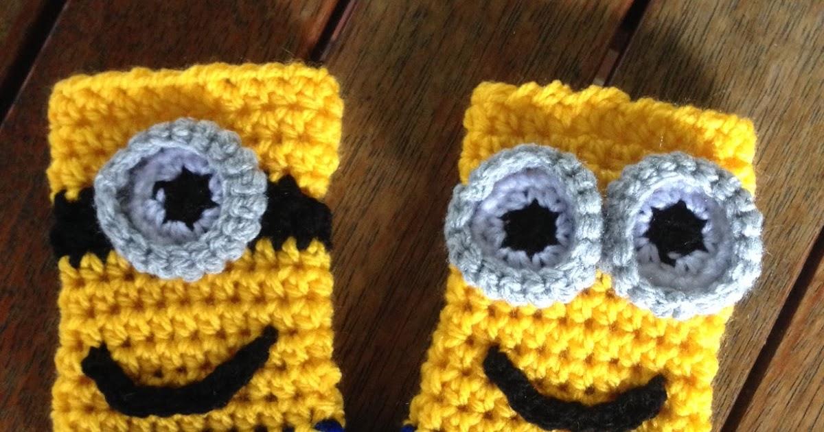 Crochet Obsession Minion Fingerless Gloves For Child Free Crochet
