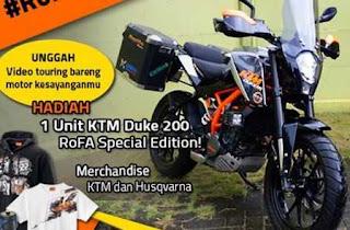 Lomba Video Oktober Hadiah 1 Motor KTM Duke 200 RoFA Special Edition