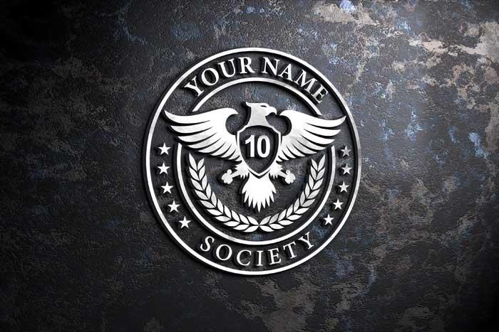 Silver 3D Old Wall Logo Mockup
