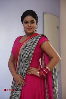 Actress Poorna Pictures in Red Salwar Kameez at Jayammu Nischayammu Raa Teaser Launch  0118