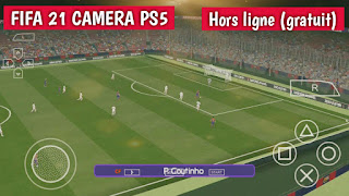FIFA 21 PPSSPP Chelito V9 caméra PS5 Android hors ligne 600 Mo meilleurs graphiques nouveaux kits de visages et transferts