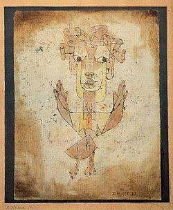 Angelus Novus cuadro de Paul Klee