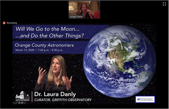 March 13 OCA meeting, conducted April 10, as online virtual meeting (Source: Laura Danly, Griffith Observatory)