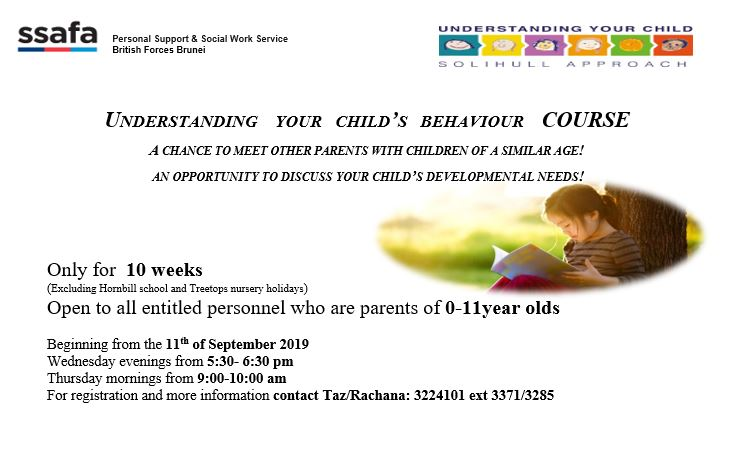 BRUNEI HIVE: Understanding Your Child's Behavior Course