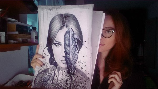 04-Boho-Girl-Gina-Iacob-Women-s-Strength-Depicted-in-Portrait-Drawings-www-designstack-co