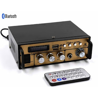 Amplifier Fleco AK-698BT AK698BT Bluetooth Mini Karaoke MP3 Player FM Radio New Sisa Stok