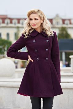 palton dama mov de iarna