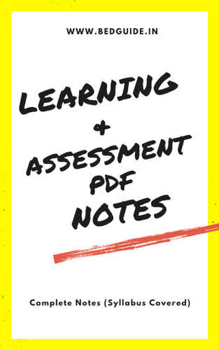 B.ed 1st Year Notes PDF For All Subjects