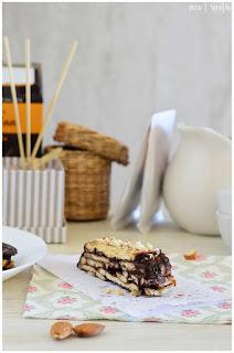 tarta de la abuela con flan- tarta con flan- tarta con chocolate- chocolate, galletas y flanin