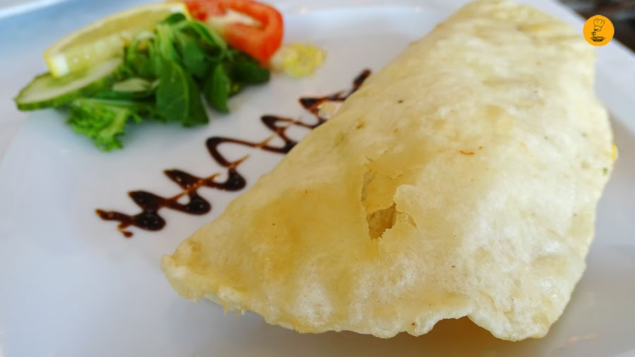 prawn puri en Shampan Indian Madrid