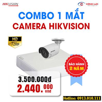 Trọn bộ 1 mắt Camera Hikvision 1.0 megapixel