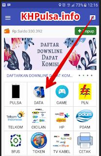 """Masuk ke aplikasi dan pilih menu """"DATA"""""""