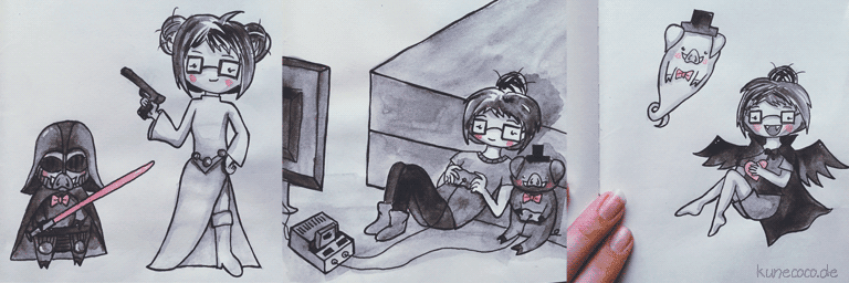 KuneCoco • Inktober Teil 2 • Star Wars, Gaming und Happy Halloween!