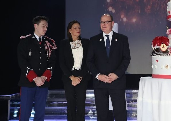 Prince Albert, Princess Stephanie and Louis Ducruet attended 200th anniversary gala dinner of Palace Guards