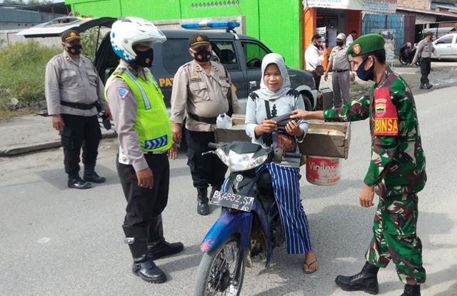 Operasi Yustisi Diwilayah Binaan, Personel Jajaran Kodim 0207/Simalungun Kompak Bersama Dengan Dinas Terkait