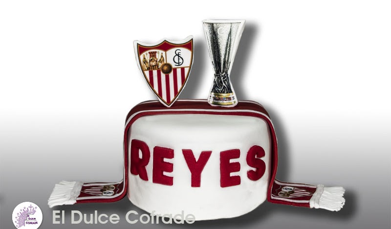Tarta del Sevilla F.C. y Copa UEFA