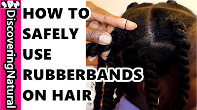 How to Use RubberBand on Natural Hair without Breakage