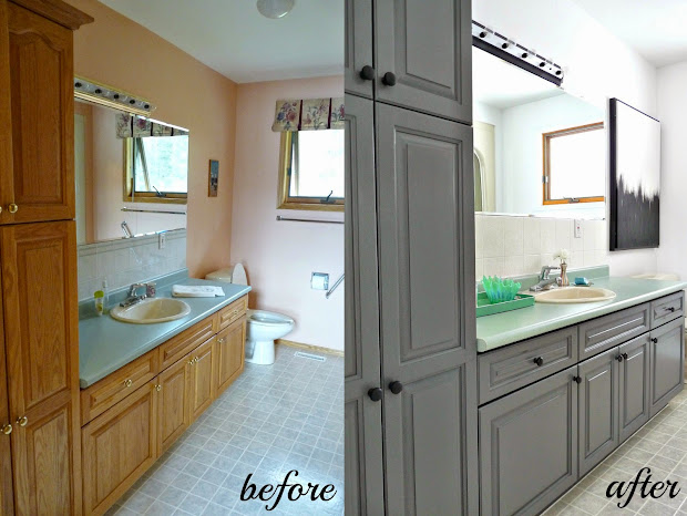 Stain or Paint Bathroom Cabinets