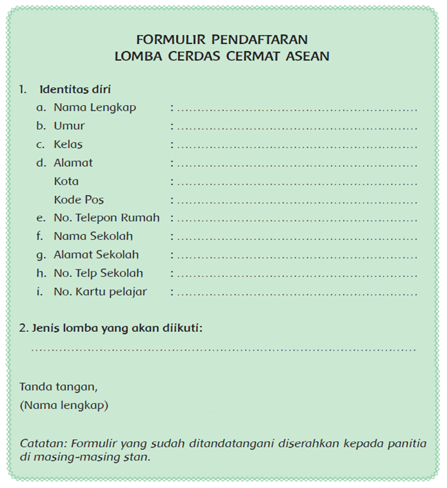 Formulir A