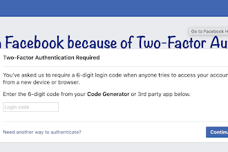 Can't Open Facebook because of Two-Factor Authentication