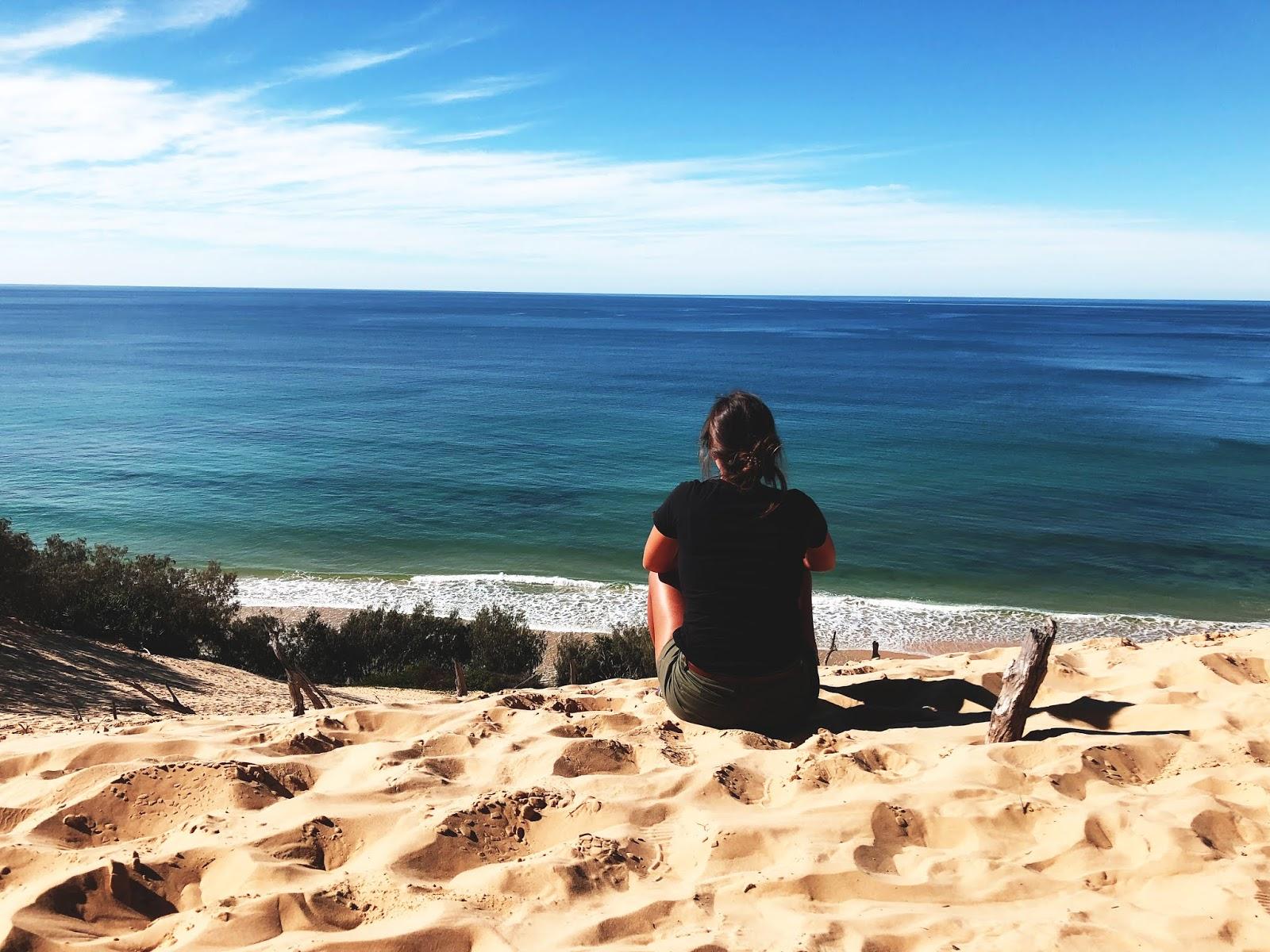 Plaża Rainbow Beach w Australii - widok z wydmy
