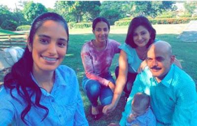 General Acosta acusado de abusar a una menor publica foto con su familia