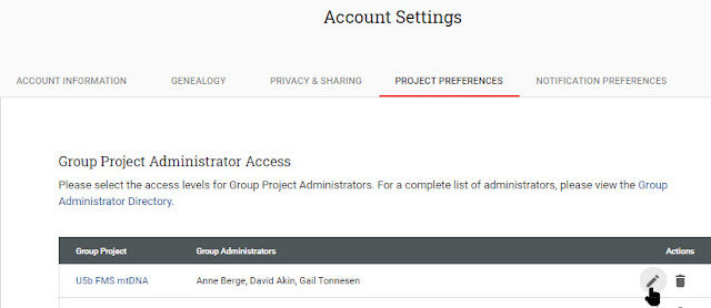 FTDNA group admin access
