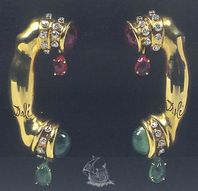 Salvador Dali, Carlos Alemani: Telefone, 1949, ouro, diamantes, rubis, esmeraldas.
