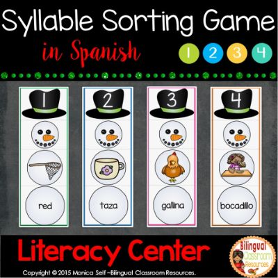 Syllable Sorting Game in Spanish-Clasificando sílabas