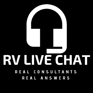RV Live Chat Logo with slogan