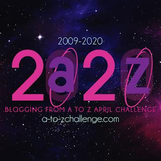 #AtoZChallenge 2020 badge