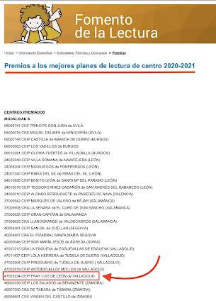 PREMIO PLAN DE LECTURA
